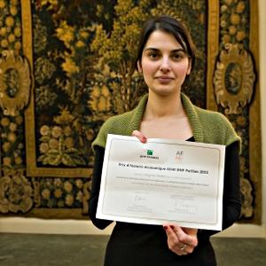 Photographie de la lauréate