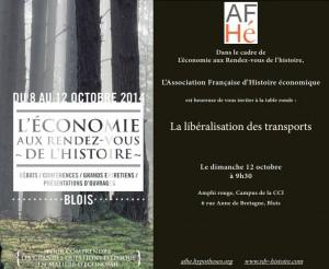 «La libéralisation des transports» – l'AFHE à Blois