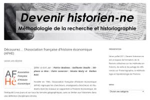 Présentation de l'AFHE sur <em>Devenir historien-ne</em>