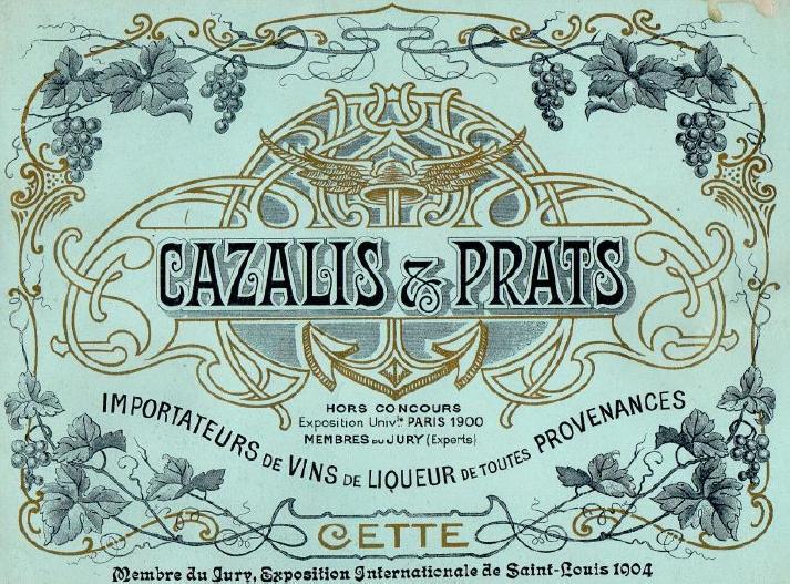 """Livret publicitaire, Maison """"Cazalis & Prats"""" (Sète), années 1900-1910, fonds personnel"""